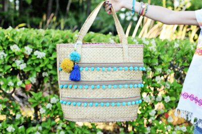 DIY Straw Beach Bag