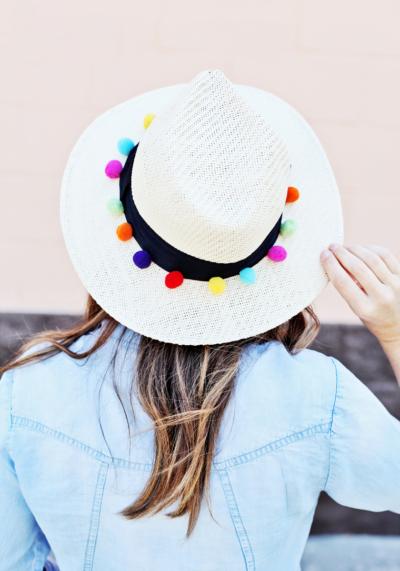 DIY Pom Pom Hat
