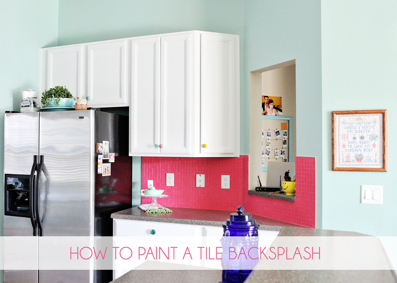 How to Paint a Tile Backsplash
