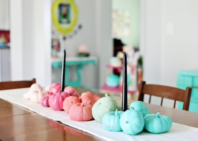 Colorful Pumpkins – DIY Table Runner